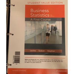 Other - Business Statistics 7th Edition Loose Leaf